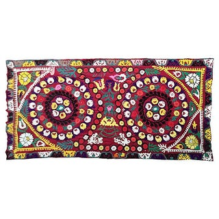 Silk Hand-Embroidered Suzani Textile