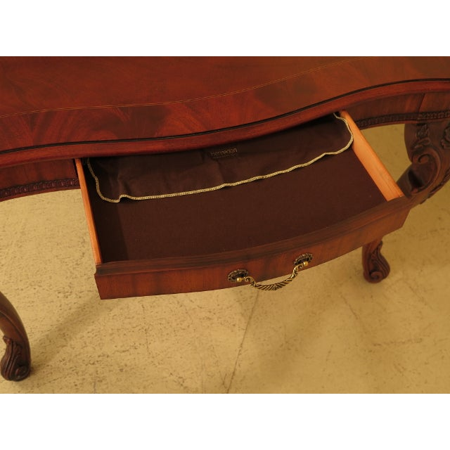 1990s Henredon Georgian Mahogany Dining Room Table For Sale - Image 5 of 13