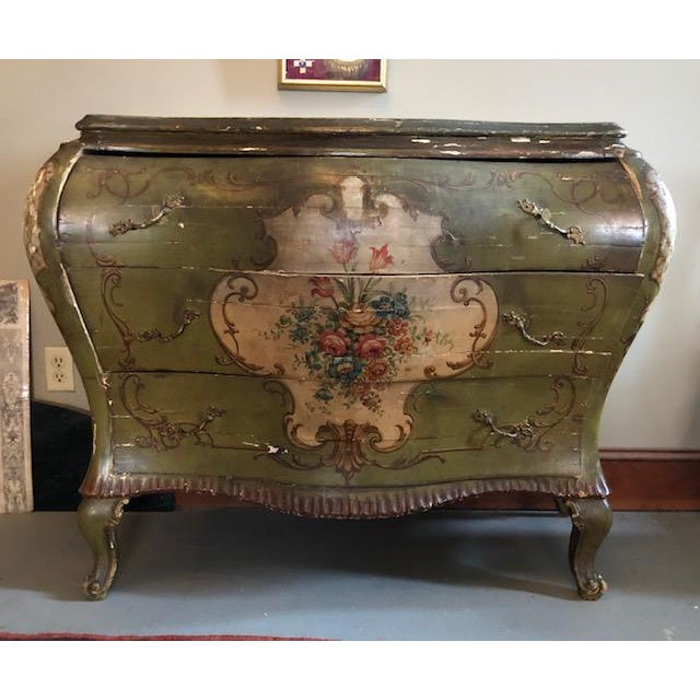 18th Century Venetian Rococo Bombe Chest of Drawers For Sale - Image 13 of 13