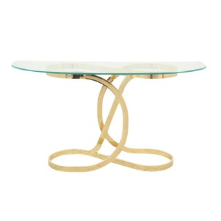Brass and Glass Console Table