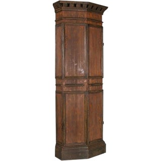 1960s Country Style Corner Cabinet-Italy For Sale
