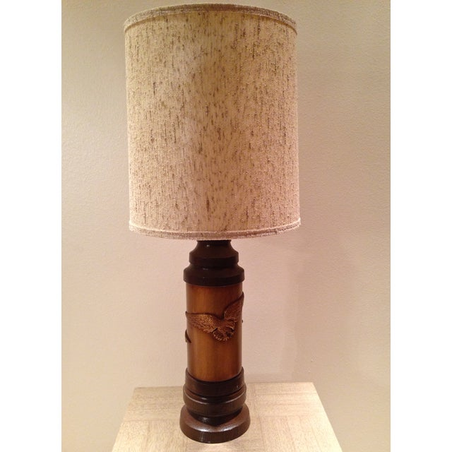 """Whether you are going for the """"Bicentennial Chic"""" look or just want a splash of 1970s Americana, this slightly-rustic lamp..."""