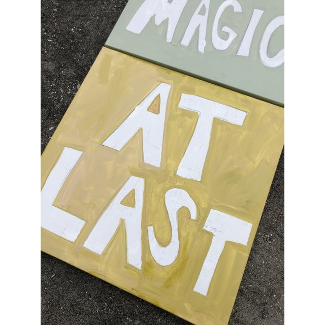 Could This Be the Magic at Last Triptych by Virginia Chamlee For Sale - Image 6 of 8