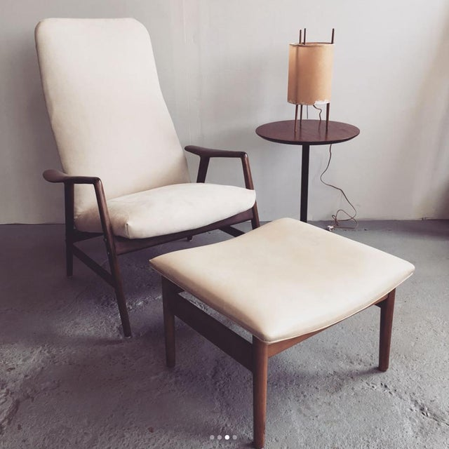 Alf Svensson Danish Reclining Lounge Chair & Ottoman - Image 2 of 7