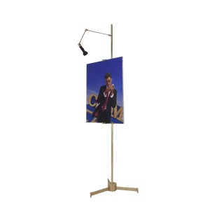 Arredoluce Mid Century Brass Easel Lamp For Sale