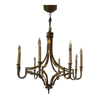 Chinoiserie Mykonos Visual Comfort Brass Chandelier