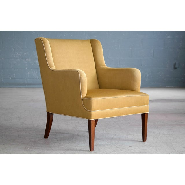 Modern Frits Henningsen Pair of Lounge Chairs Denmark, Circa 1950 For Sale - Image 3 of 13