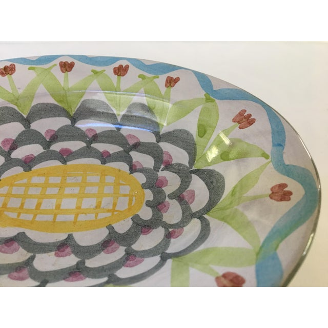 Vintage MacKenzie-Childs Hand Painted Dish / Catchall in King Ferry Pattern For Sale - Image 9 of 11