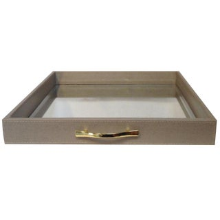 Large Lizard Print Mirrored Tray For Sale