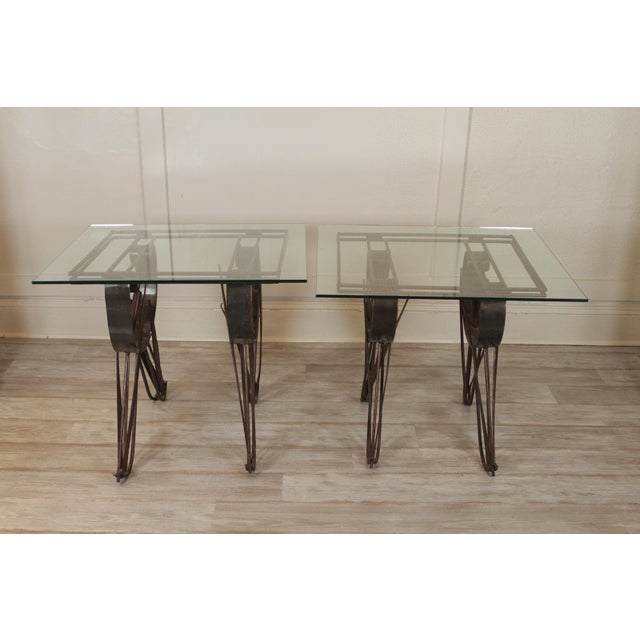 Modern Handmade Wrought Iron Side Tables For Sale - Image 10 of 10