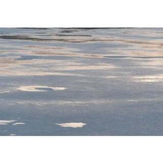 "Gaétan Caron ""Le Dégel"" (Thawing), Ice Melting on Lake, Abstract (Framed) 2016 For Sale"