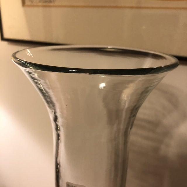 Blenko Large Blenko Crystal Glass Vase For Sale - Image 4 of 11