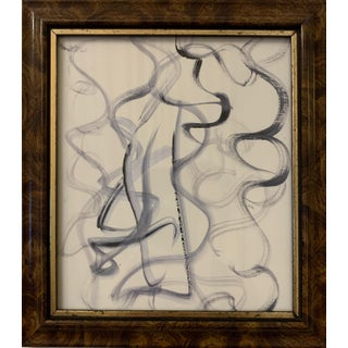 Original Abstract Framed Watercolor Drawing For Sale