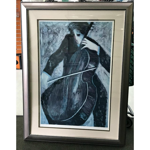 """Early 21st Century Rare Barbara A. Wood """"The Cellist"""" """" Artist Proof"""" Signed by the Artist For Sale - Image 5 of 5"""