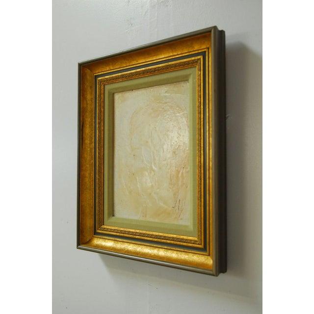 Pascal Cucaro Profile Portrait Oil on Board - Image 3 of 9