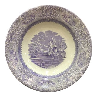 Mid 19th Century Purple Transferware Bowl For Sale