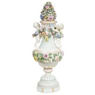 Late 18th Century Vintage Meissen Covered Figural Vase For Sale