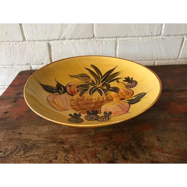Vintage Pottery Large Shallow Fruit Bowl - Image 5 of 10