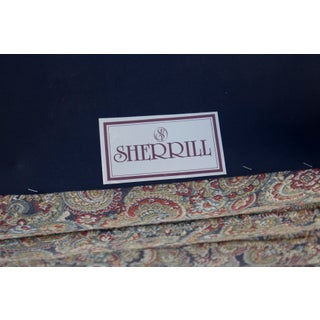 Pair of Paisley Parsons Ottomans by Sherrill Preview