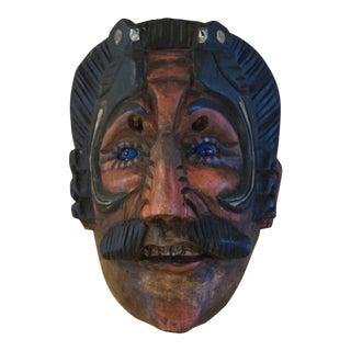 Guatamalan High Maya Glass Eyed Mask For Sale
