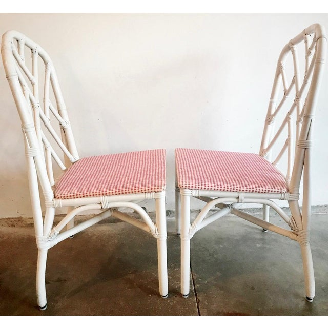 Calif-asia 1960s Chippendale Rattan Chairs- Set of 6 For Sale - Image 4 of 10