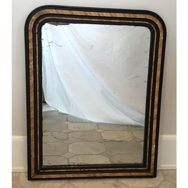 French Faux Painted Mirror With Original Glass For Sale - Image 10 of 10