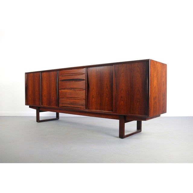 Danish Rosewood Credenza With Sled Legs by Arne Vodder, 1960s For Sale - Image 10 of 10