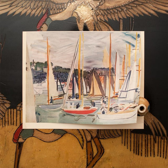 """1954 Vintage Full Color Art Plate /""""Harbor At Deauville/"""" by RAOUL DUFY Lithograph"""