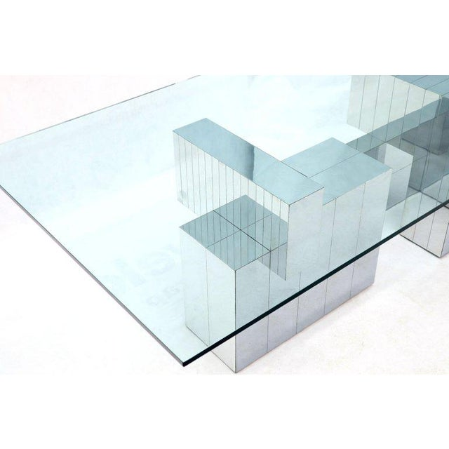 Mid-Century Modern circa 1970s dining table by Paul Evans for Directional. Cityscape design inspired by the Manhattan...