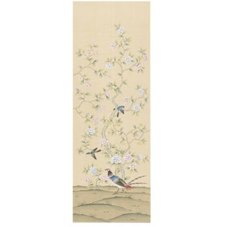 Chinoiserie Phoenix Garden Hand Painted Panel For Sale