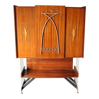Mid Century Italian Dry Bar Cabinet,Drinks Cabinet, Cocktail Bar For Sale