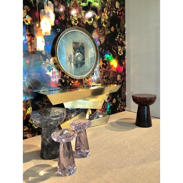 Sylvan S.F. Glacier Resin Drink Table in Transparent Mauve by Sylvan Sf For Sale - Image 4 of 6