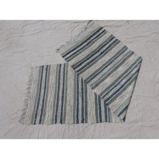 This is a antique hand woven Swedish oval Rag Rug. Lovely addition to your home!