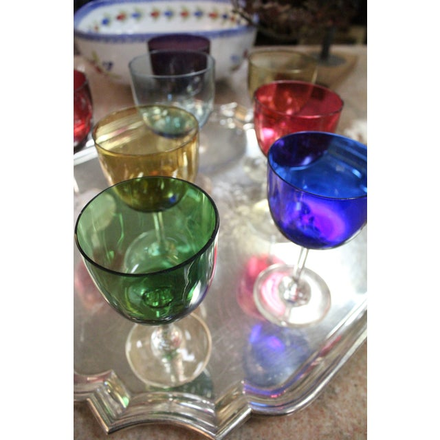 Mid 20th Century Rainbow Wine Glasses - Set of 8 For Sale - Image 4 of 7