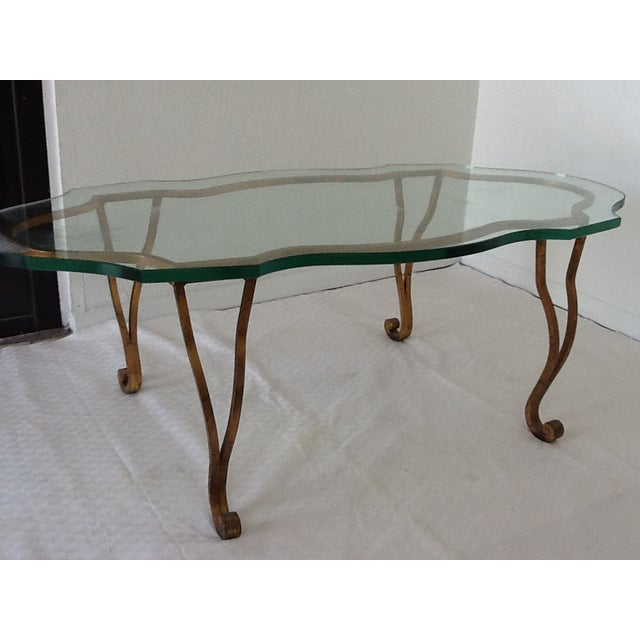 Vintage Iron Gold-Leaf Coffee Table - Image 2 of 5