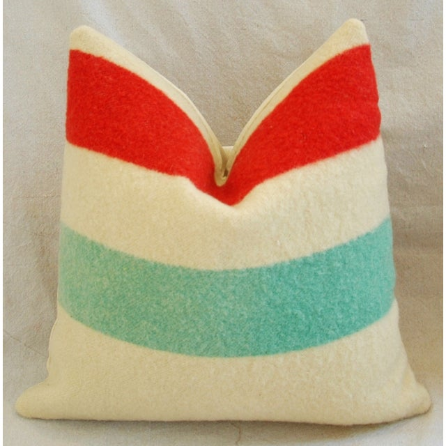 Multi-Striped Hudson's Bay Blanket Pillows - Pair - Image 4 of 11