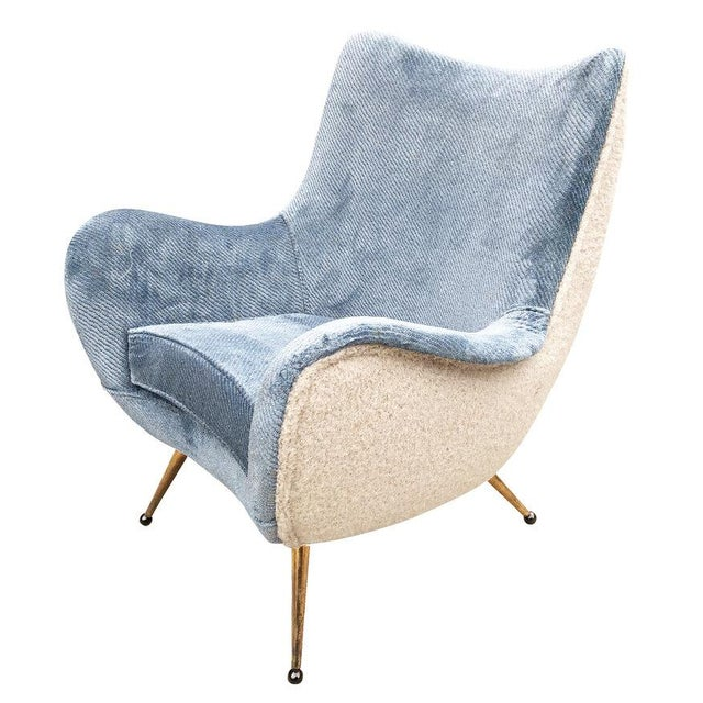 Mid-Century Modern Pair of Armchairs Attributed to Marco Zanuso For Sale - Image 3 of 6