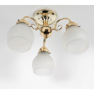 Brass 3-Lamp Ceiling Fixture Preview