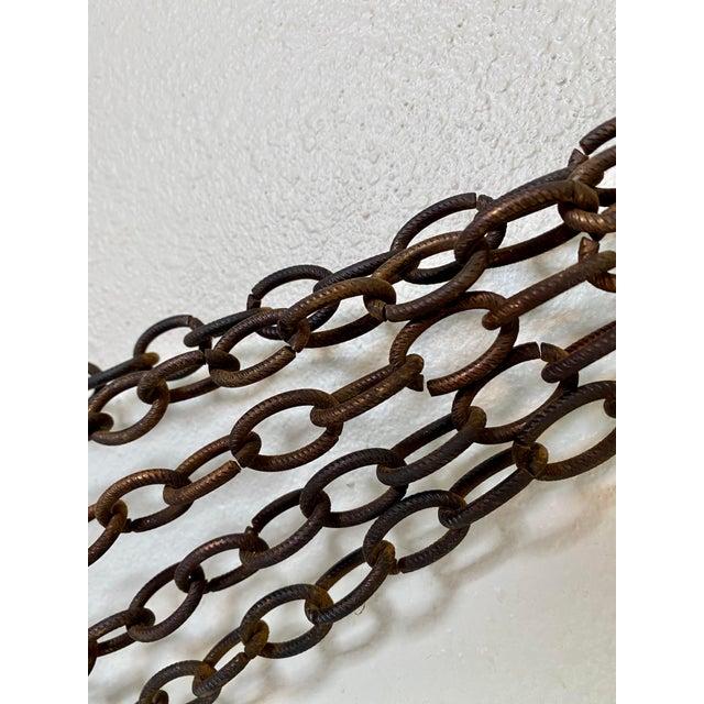 1970s Goldtone Hanging Candelabra For Sale - Image 4 of 9