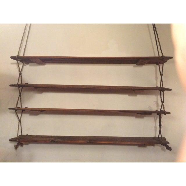 1950s 1950's Vintage American Craft Hanging Shelves For Sale - Image 5 of 9