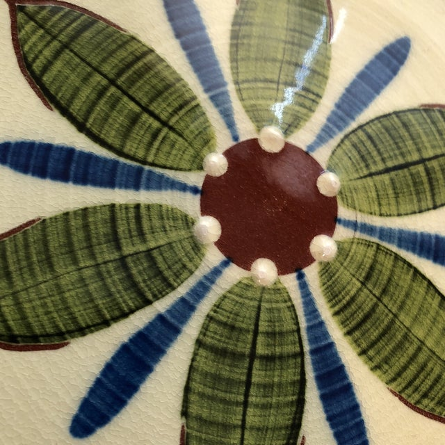 1960's Pottery Hanging Platter For Sale - Image 4 of 6