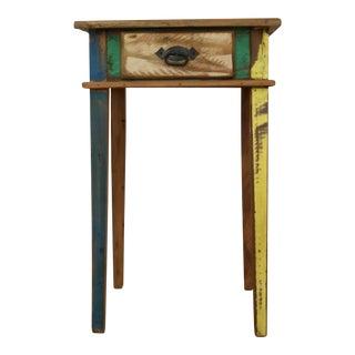 Handmade Reclaimed Peroba Rosa Wood Side Table