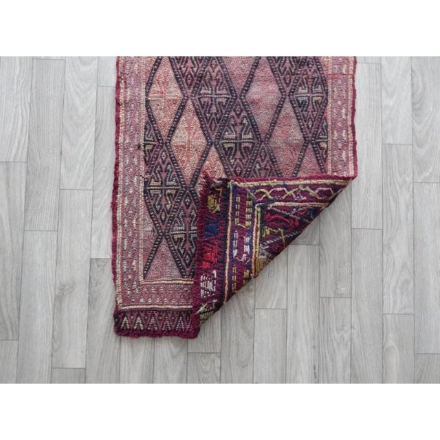 Textile Masterwork Hand-Woven Rug Braided Small Kilim 1′6″ × 3′ For Sale - Image 7 of 8