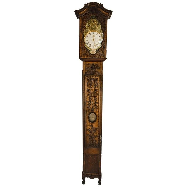 Carved 18th C French Lantern Clock Case With Movement For Sale - Image 13 of 13