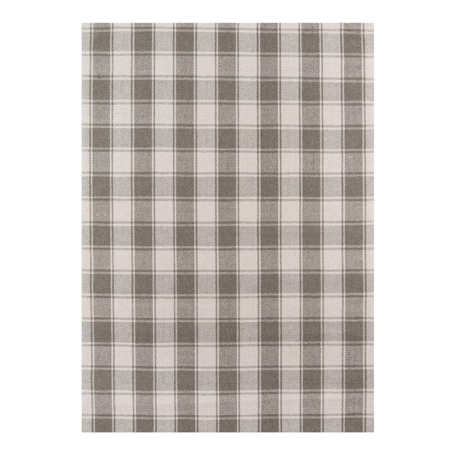 """Gray Erin Gates by Momeni Marlborough Charles Grey Hand Woven Wool Area Rug - 3'6"""" X 5'6"""" For Sale - Image 8 of 8"""
