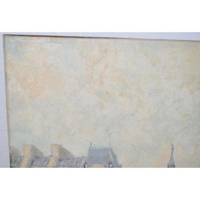 "Marcel Brisson Original ""Paris"" Oil Painting c.1960 For Sale In San Francisco - Image 6 of 8"