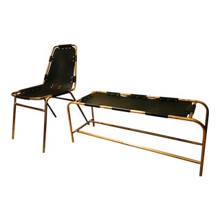 Restoration Hardware Perisol Chair & Bench - A Pair