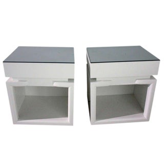 James Mont Attributed Nightstands With Drawers For Sale