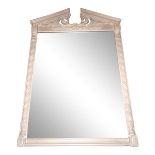 Vintage Uttermost Ornate Beige/Ivory Decorative Wall Mirror For Sale