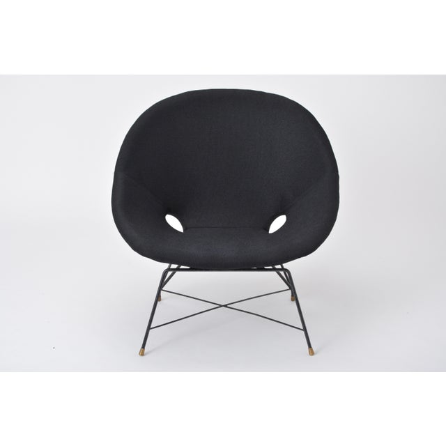 Black Italian Cosmos Lounge Chair by Augusto Bozzi for Saporiti For Sale - Image 11 of 11